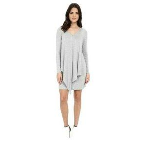 Kensie Drapey French Terry Dress Long Sleeve